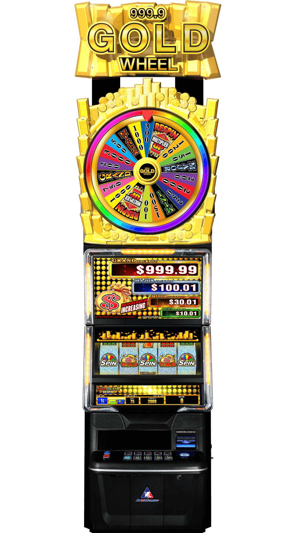999.9 Gold Wheel – Bags of Cash Respin